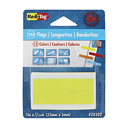 Redi Tag Solid Indicator Flags Assorted