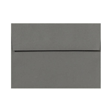 "LUX Invitation Envelopes With Peel & Press Closure, A1, 3 5/8"" x 5 1/8"", Smoke Gray, Pack Of 250"