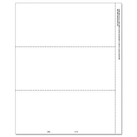 """ComplyRight™ 1099/W-2 Inkjet/Laser Blank Tax Forms, 3-Up Horizontal With Perforation, 3-Up, 8 1/2"""" x 11"""", Pack Of 50 Forms"""