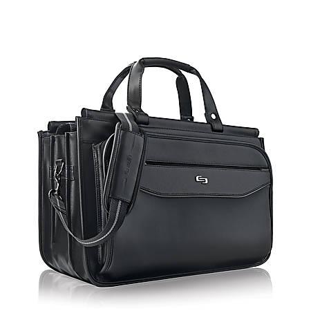 Solo Clic Triple Compartment Briefcase For