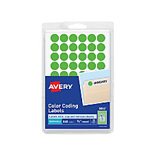 Avery Removable Round Color Coding Labels