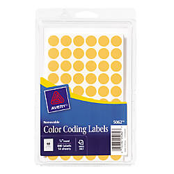 Avery 12 Round Color Coding Labels