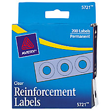 Avery Permanent Self Adhesive Reinforcement Labels