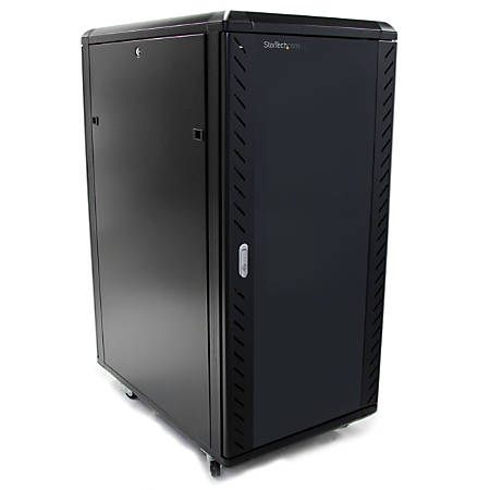 StarTech.com 25U 36in Knock-Down Server Rack Cabinet with Casters - Easy to transport and quickly assemble 25U secure portable server rack cabinet - Flat packed to reduce shipping costs - Easy assembly at the point of installation