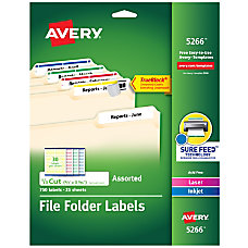 Avery TrueBlock Permanent InkjetLaser File Folder