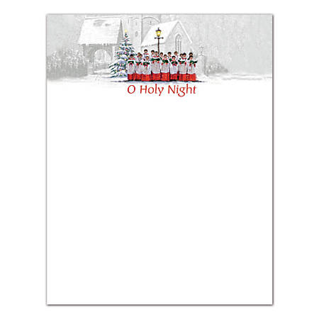 "Great Papers!® Holiday-Themed Letterhead Paper, 8 1/2"" x 11"", Singing Choir, Pack Of 80 Sheets"