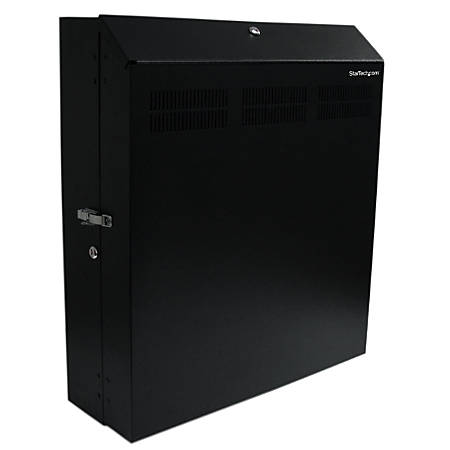 StarTech.com Wallmount Server Rack with Dual Fans and Lock - Vertical Mounting Rack for Server - 4U - Vertically mount your server or networking equipment to a wall with lock and key for maximum security - Universally compatible with rack-mount servers