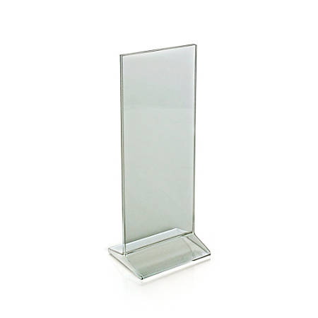 """Azar Displays Top-Load Acrylic Sign Holders, 11"""" x 4 1/4"""", Clear, Pack Of 10"""