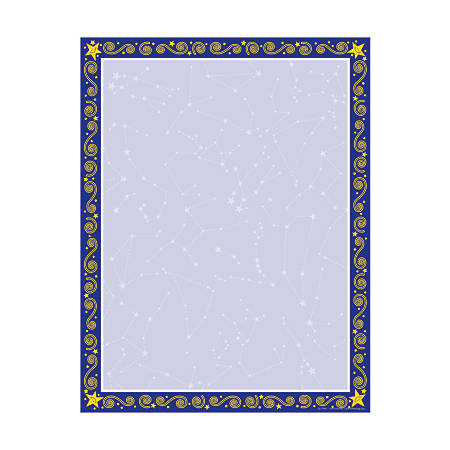 """Barker Creek Computer Paper, 8 1/2"""" x 11"""", Reach For The Stars, Pack Of 50 Sheets"""