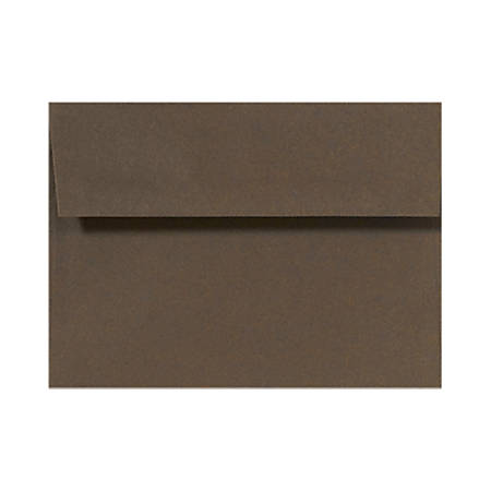 "LUX Invitation Envelopes With Peel & Press Closure, A6, 4 3/4"" x 6 1/2"", Chocolate Brown, Pack Of 50"
