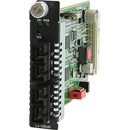 Perle C-1000MM-S2SC40 Media Converter - 2 x SC Ports - 1000Base-EX, 1000Base-SX - Internal