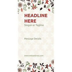 Custom Vertical Banner Christmas Elements
