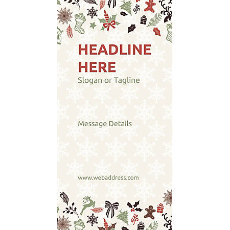 Custom Vertical Banner, Christmas Elements