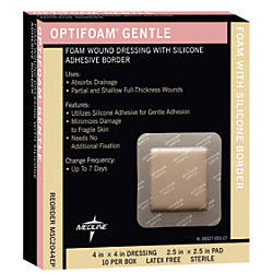 Optifoam Gentle Border Adhesive Dressings 4