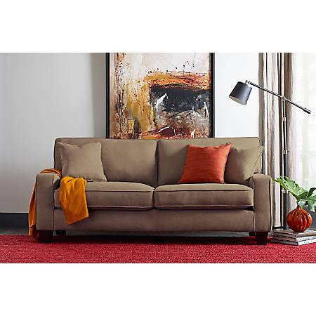"Serta Deep-Seating Palisades Sofa, 73"", Tan/Espresso"
