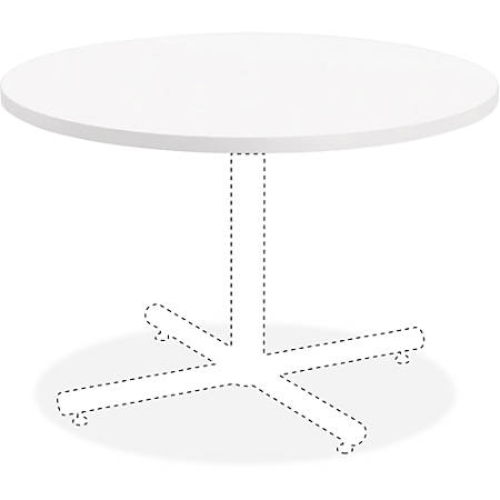 "Lorell® Hospitality Round Table Top, 36""W, White"