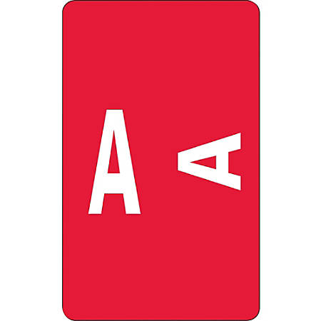 Smead® ACCS Alphaz® Permanent Color-Coded Label Refill Pack, A, Red, Pack Of 100