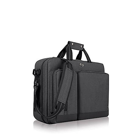 """Solo Duane 15.6"""" Hybrid Backpack Briefcase, Gray"""