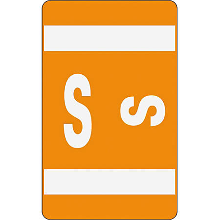 Smead® ACCS Alphaz® Permanent Color-Coded Label Refill Pack, S, Orange, Pack Of 100