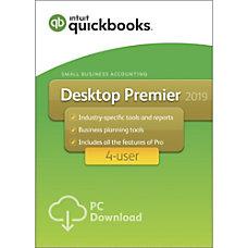 QuickBooks Desktop Premier 2019 For 4