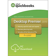 QuickBooks Desktop Premier 2019 For 4