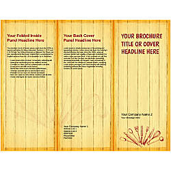 Customizable Trifold Brochure Chopping Board
