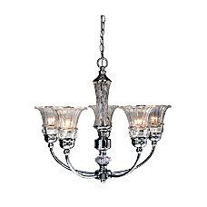 Elegant Designs 5 Light Glass Ceiling