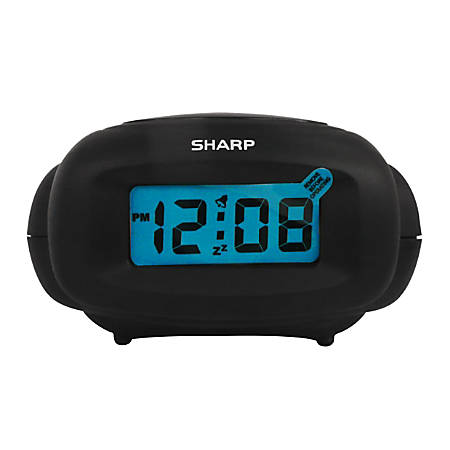Sharp® LCD Alarm Clock