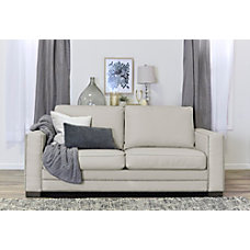 Serta Mason Sofa Ivory Bonded Leather