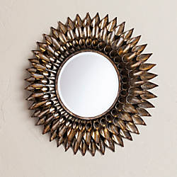 Southern Enterprises Leandro Round Wall Mirror