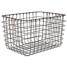 Realspace Large Metal Wire Bin with