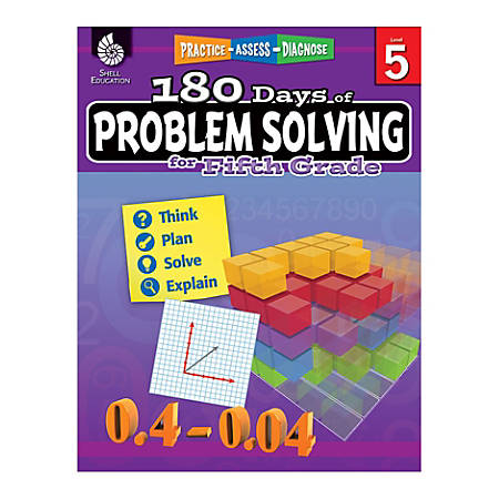 Shell Education 180 Days Of Problem Solving, Grade 5