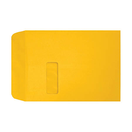 "LUX Open-End Window Envelopes With Peel & Press Closure, #9 1/2, 9"" x 12"", Sunflower, Pack Of 250"