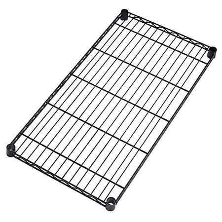 """OFM Extra Wire Shelves For Heavy-Duty Storage Units, 1""""H x 36""""W x 18""""D, Black, Pack Of 2"""