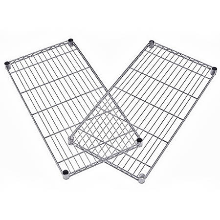 """OFM Extra Wire Shelves For Heavy-Duty Storage Units, 1""""H x 36""""W x 18""""D, Silver, Pack Of 2"""