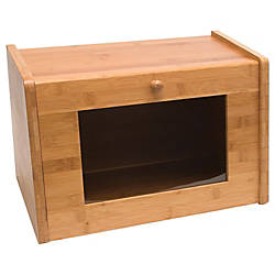 Lipper Bamboo Bread Box with Tempered