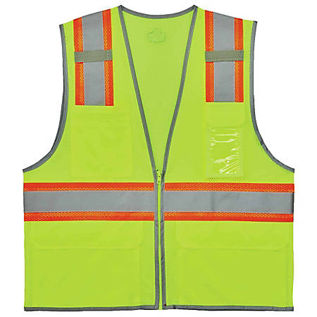 Ergodyne GloWear Safety Vest, 2-Tone, Type-R Class 2, Large/X-Large, Lime, 8246Z