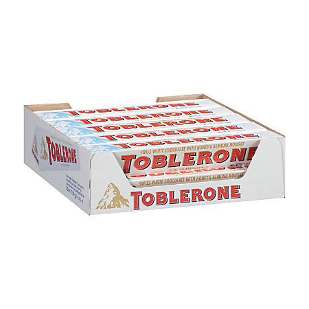 Toblerone White Chocolate Bars, 3.5 Oz, Box Of 20 Bars