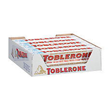 Toblerone White Chocolate Bars 35 Oz