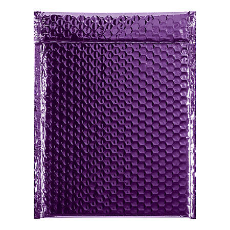 """Office Depot® Brand Glamour Bubble Mailers, 11-1/2""""H x 9""""W x 3/16""""D, Purple, Case Of 100 Mailers"""