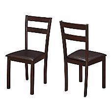 Monarch Specialties Allison Dining Chairs Dark