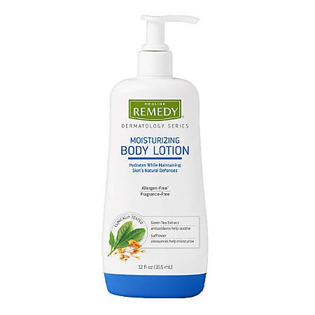 Remedy Dermatology Series Unscented Moisturizing Body Lotion, 12 Oz, Pack Of 12 Bottles