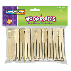 Chenille Kraft Clothespins Slotted Box Of