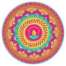 Amscan Paper Diwali Round Plates 10