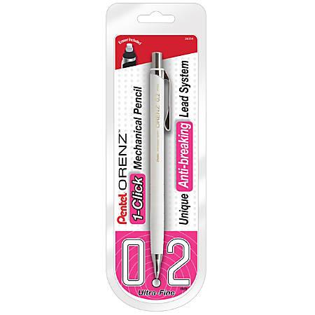 Pentel® Orenz Mechanical Pencil, B Lead, 0.2 mm, White Barrel