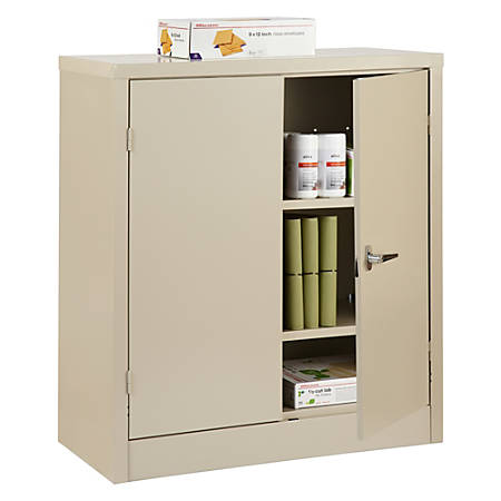 Reale Steel Storage Cabinet 3 Shelves 42 H X 36 W 18 D Putty Item 945723