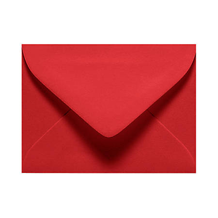 """LUX Mini Envelopes With Moisture Closure, #17, 2 11/16"""" x 3 11/16"""", Ruby Red, Pack Of 1,000"""