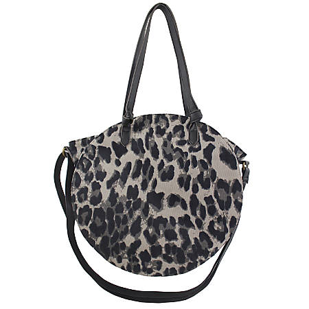 """Office Depot® Brand Tambie Polyester Tote With Crossbody Strap, 12-1/2""""H x 3-3/4""""W x 3-3/4""""D, Gray"""