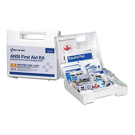 First Aid Only 25-Person First Aid Kit, White, 89 Pieces