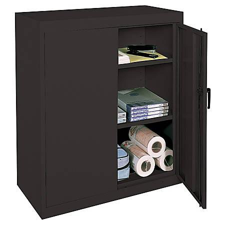 Reale Steel Storage Cabinet 3 Shelves 42 H X 36 W 18 D Black Item 945923